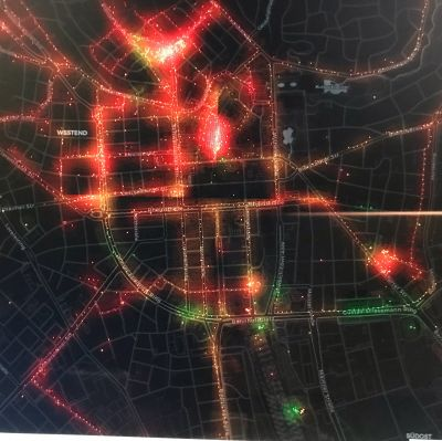 Vraktion Air Q - Realtime Data Visualization - detail City of Wiesbaden